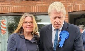Walsall councillor Vera Waters with Boris Johnson