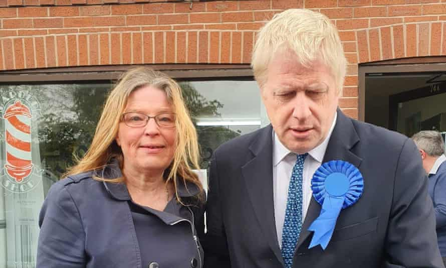 Walsall councillor Vera Waters with Boris Johnson