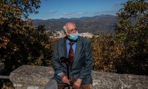 Salvatore Occhin near his home where he lives alone.