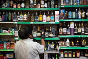 The closure of licensed establishments has seen alcohol purchases in shops rise exponentially.
