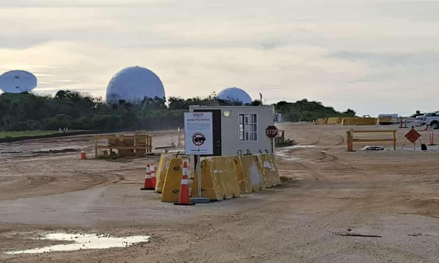 Construction is underway on a new US Marine Corps base, Camp Blaz, on the island of Guam.