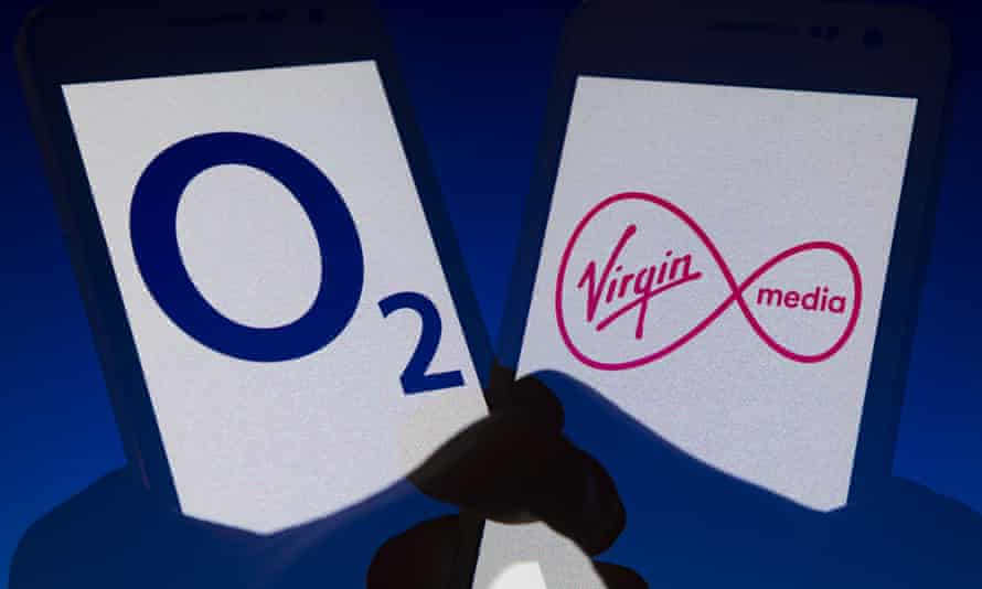 O2 has 34 million mobile customers, while Virgin Media has 5.3 million broadband, pay-TV and mobile users.