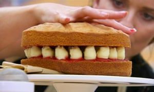 A Victoria sponge from the 2016 Great British Bake Off winner Candice Brown