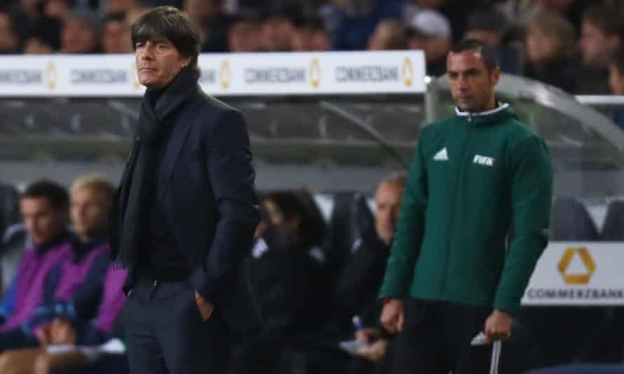 Germany coach Joachim Low, pictured during his team's World Cup qualifying game against Northern Ireland.