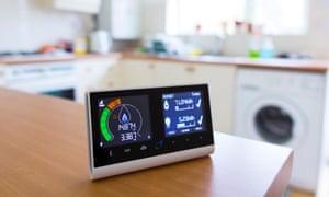 British Gas smart energy monitor in kitchen
