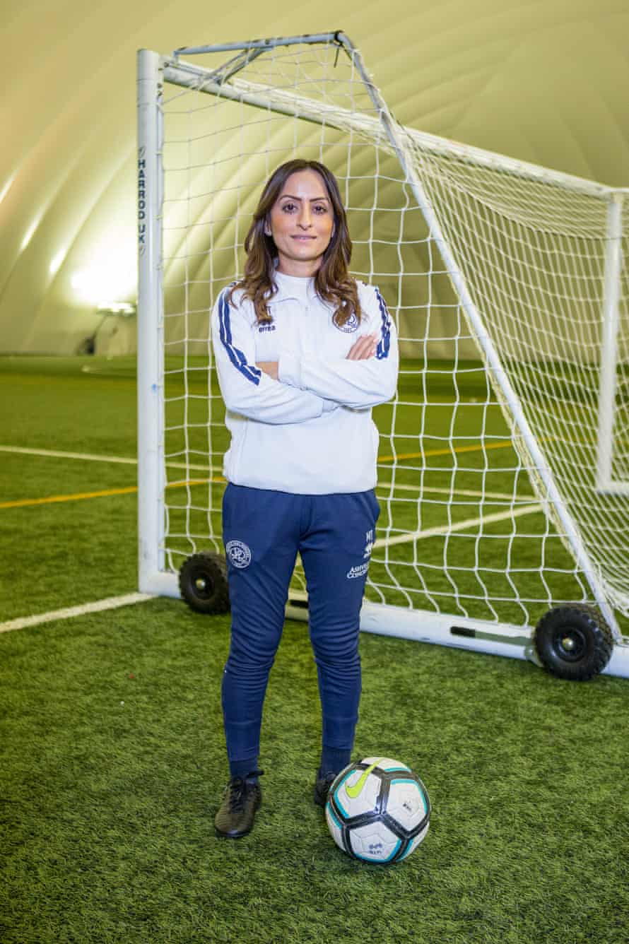 Manisha Tailor at a session with under-13 boys at QPR.
