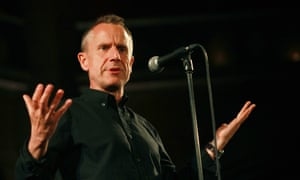 Jeremy Hardy performing at his War on Want comedy show at the Union Chapel in 2015