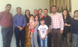 Left - right Bahman Abubakr, Ahmad Saeed's elder brother, Saeed's sister in law and nieces, Saeed Othman and unidentified friends and family