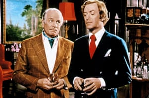 With Laurence Olivier in Sleuth.