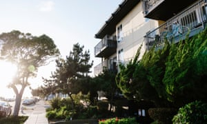 The Dunes apartment building in Alameda, California, where Musiy Rishin has lived for 17 years.