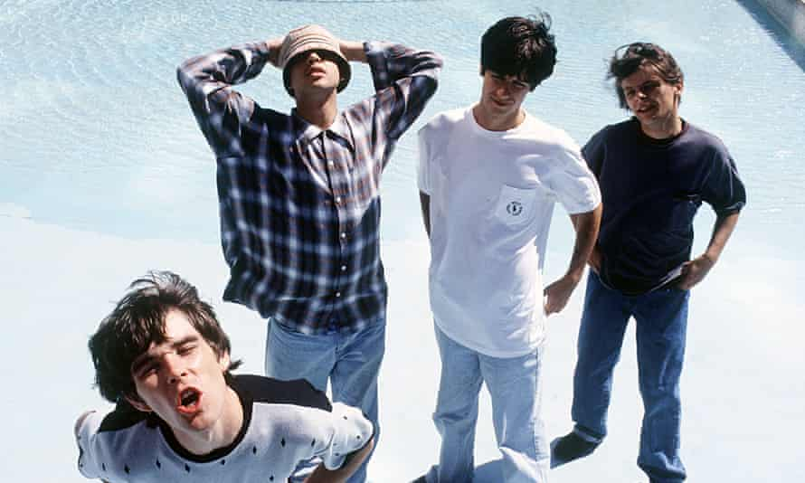 'They left the country in a mild state of confusion' ... the Stone Roses pictured in 1989.