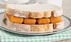 Fish finger sandwiches ... the great British comfort food.