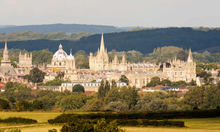 Oxford and its colleges viewed from outside the city centre.