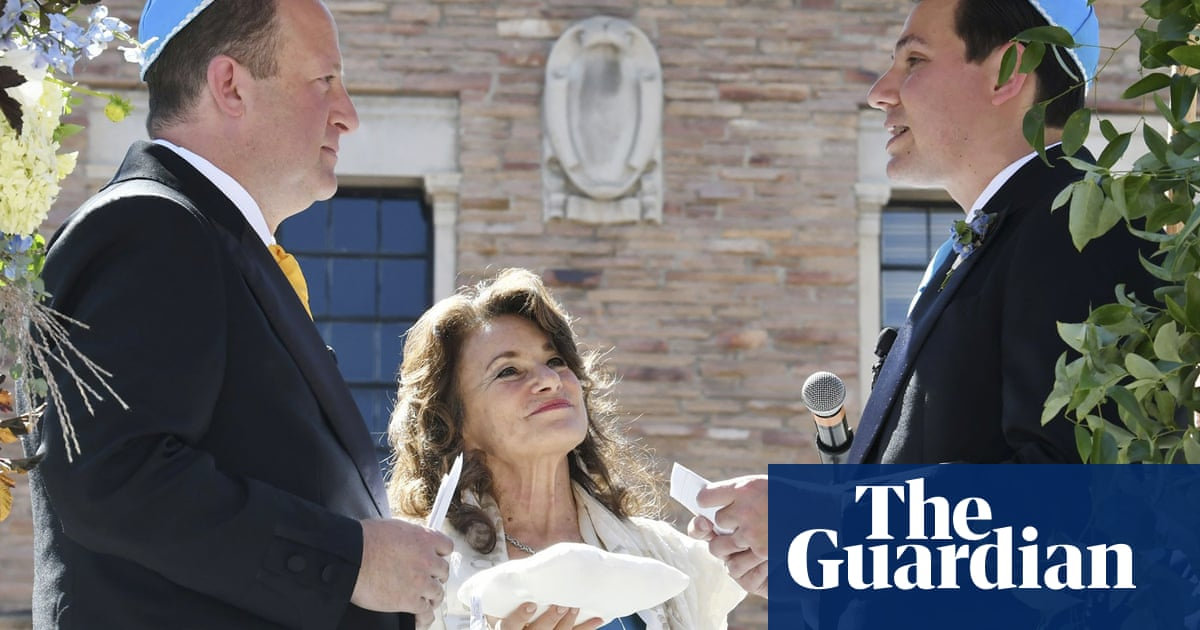 Jared Polis becomes first sitting governor to marry in same-sex wedding
