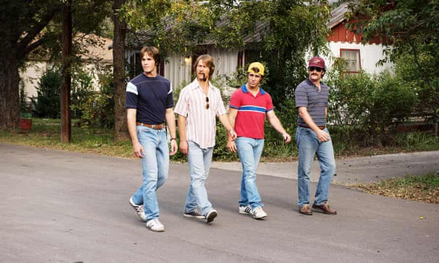 Blake Jenner, Glen Powell, Temple Baker and Forrest Vickery in Everybody Wants Some!!