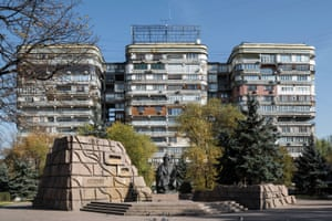 Three Knights Residential complex, A. Petrov, B. Churlyaev, V. Gershberg and others, built in 1971. Almaty, Kazakhstan