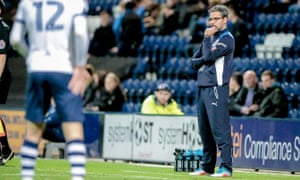 David Wagner pictured during Huddersfield's defeat to Preston North End on Tuesday night.