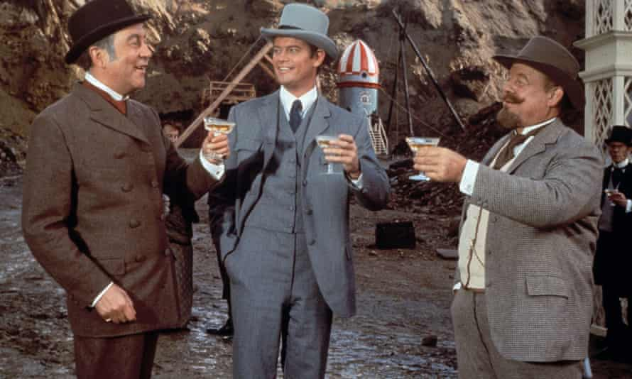 A serious outbreak of hats ... Jules Verne's Rocket to the Moon (1967), 2021 restoration.