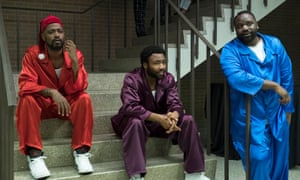Darius (Lakeith Stanfield), Earn (Donald Glover) and Paper Boi (Brian Tyree Henry) in Atlanta.