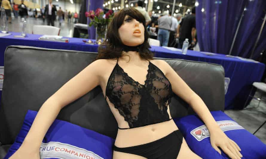 A sex robot on display at an expo in Las Vegas