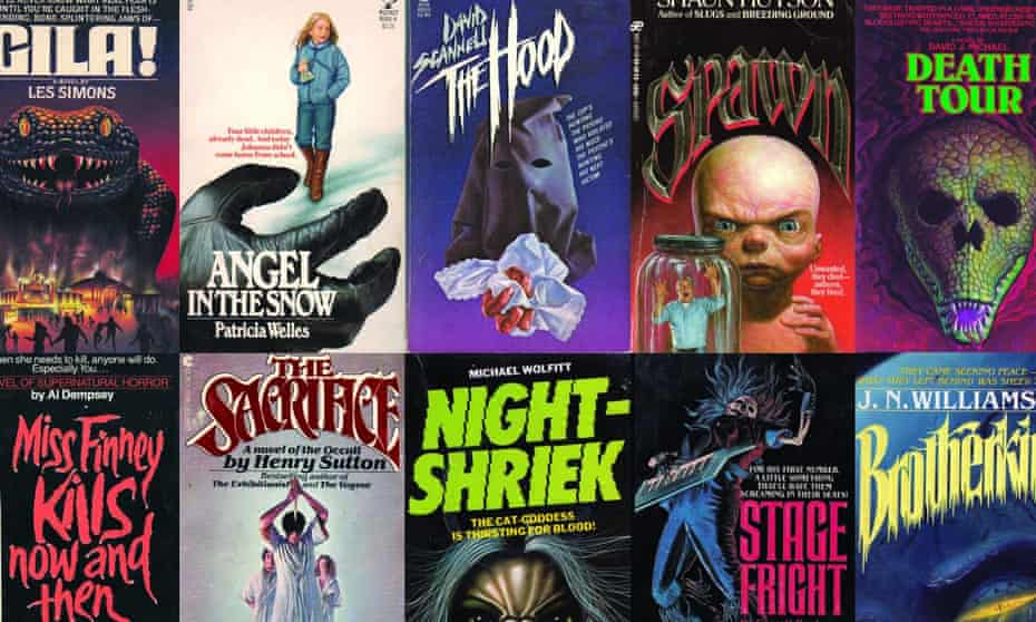 Composite of horror covers from Paperbacks from Hell