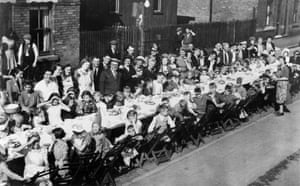 VE Day party, Dunstan Street, Netherfield, Nottinghamshire
