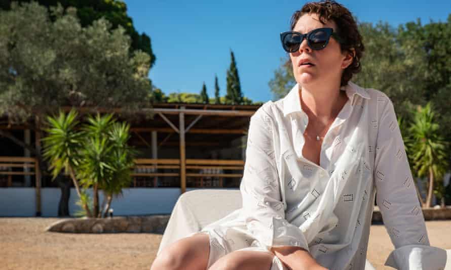 Olivia Colman in The Lost Daughter, Maggie Gyllenhaal's directorial debut.