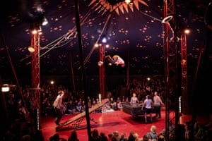 Acrobats and musicians from Circus Tsuica perform their Now or Never show under the big top.