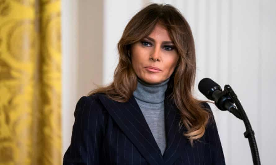 Melania Trump speaking at an opioid summit at the White House on 1 March.