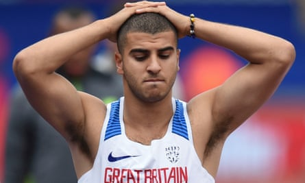 Adam Gemili said 'Honestly I didn't feel like I false started' after being disqualified from the 100m at the Birmingham grand prix.