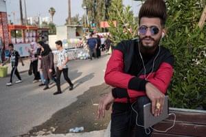 Baghdad dandies with stylish haircuts