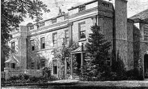 Bird Grove, Coventry, as it looked in the 19th century when George Eliot lived there.