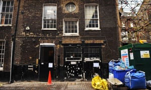 An empty house in Mayfair, London, that has been taken over by a group of squatters.