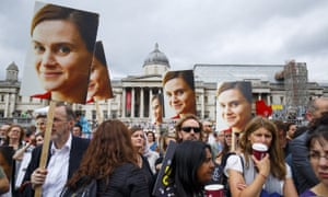 The memorial service for Jo Cox MP, in London, on 22 June 2016.
