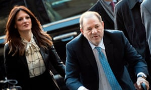 Harvey Weinstein arrives at the Manhattan criminal court on 24 February 24 (Photo by Johannes Eisele/AFP)