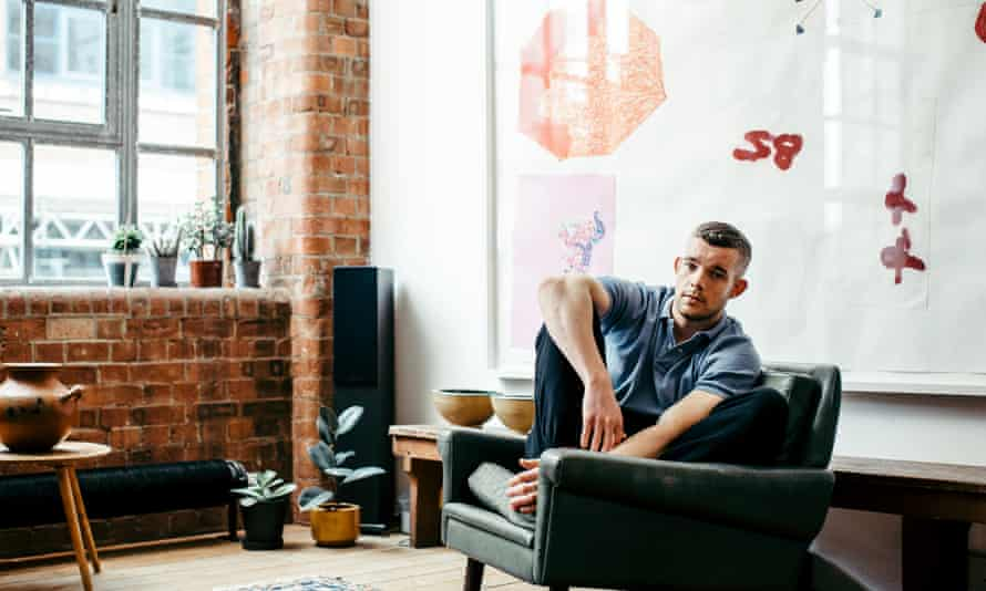 Where the art is: at home in London, where Tovey displays a rotating collection of art.