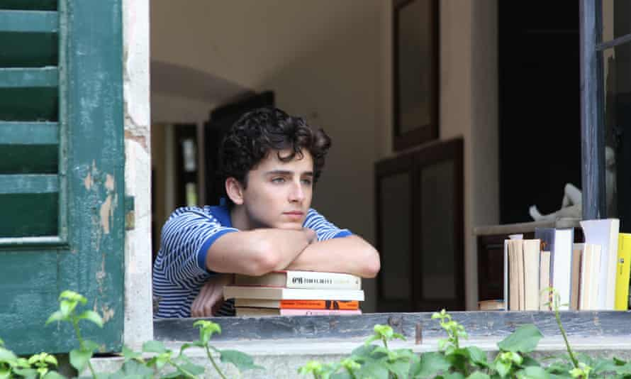 Dreamy … Chalamet in Call Me By Your Name.