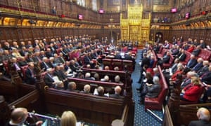 The House of Lords, where the government suffered a big defeat as peers voted to keep most of the EU charter of fundamental rights in domestic law