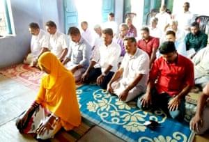 Jamida Beevi leading the Friday prayers on Friday