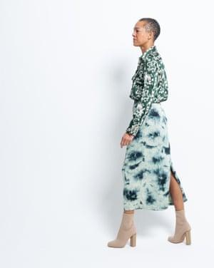Model wears top, £39.99, and skirt, £25.99, both zara.com. Boots, £40, asos.com.
