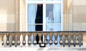 Ivanka Trump at Buckingham Palace window.