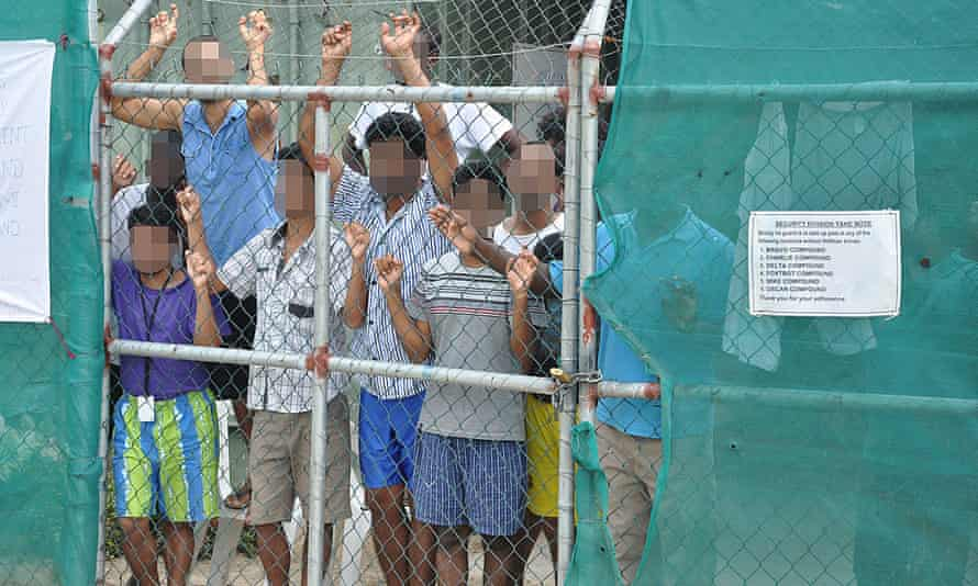 Asylum-seekers at Manus Island detention centre in Papua New Guinea. Advocates fear for the health of a man with severe OCD.