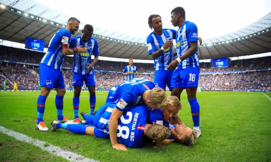 Happy day for Hertha against Mönchengladbach.