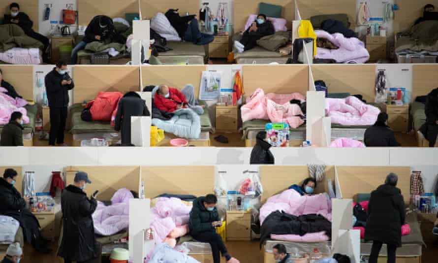 Coronavirus patients at Wuhan hospital