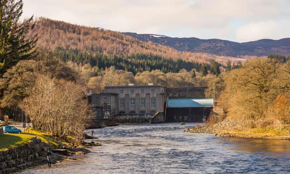 Pitlochry Dam & Fish Ladder on the River Tay