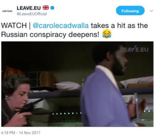 The tweet from Leave.EU's account with the modified clip from Airplane!