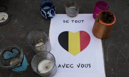Candles Brussels attacks Paris