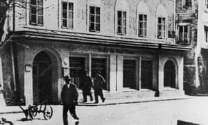 The house in Braunau-am-Inn, Austria, where Adolf Hitler was born, circa 1940.