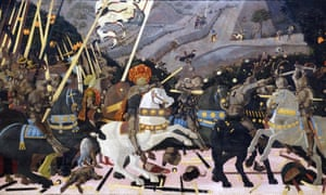 One of the treasures of the National Gallery, The Battle of San Romano by Paolo Uccello (1397-1475), an Italian painter and a mathematician.