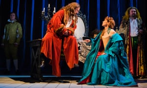 Vigorously theatrical … James Anthony Pearson, Jimmy Chisholm, Siobhan Redmond and Steven McNicoll in Thon Man Molière at the Royal Lyceum, Edinburgh.